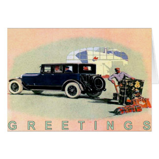 Vintage Car Greetingcard With Old Lincoln Card