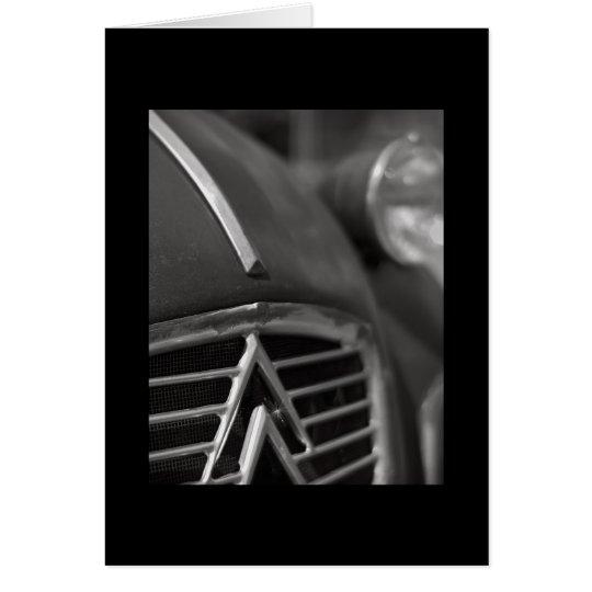 Vintage car greetings card | Citroen 2cv |
