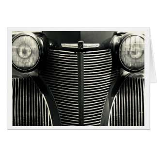Vintage Car Grill Greeting Card
