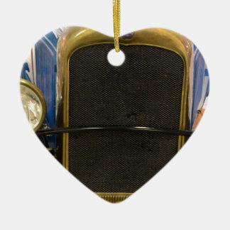 Vintage Car Grille Ceramic Heart Decoration