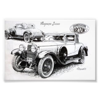Vintage car illustration art photo