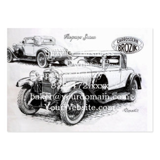 Vintage car illustration pack of chubby business cards