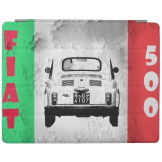 Vintage car Ipad cover | Fiat 500 | Italian Flag