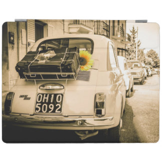 Vintage car Ipad cover | Fiat 500 | Sunflower