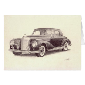 Vintage Car: Mercedes Benz 300S Card