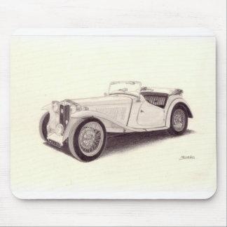 Vintage Car: MG TC Mouse Pad