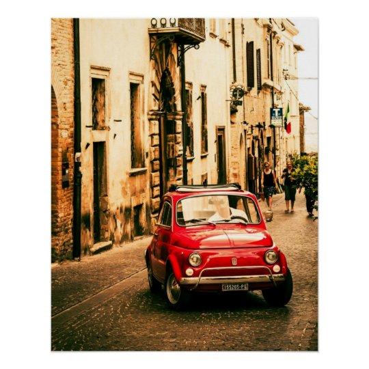 Vintage car Perfect Poster   Fiat 500  