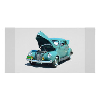 Vintage Car Personalized Photo Card