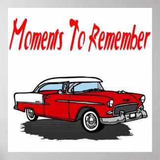 Vintage Car Poster 1955 Retro Chevy Car