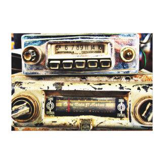 Vintage car radios canvas print