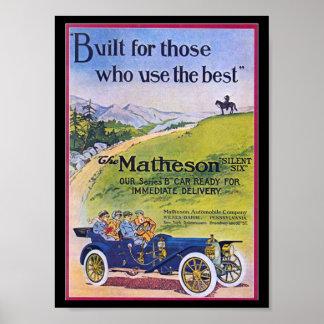 Vintage Car Retro Poster