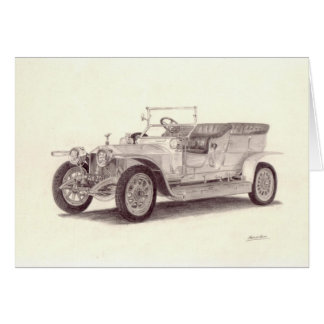 Vintage Car: Rolls Royce Silver Ghost Card