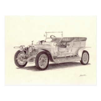 Vintage Car: Rolls Royce Silver Ghost Postcard
