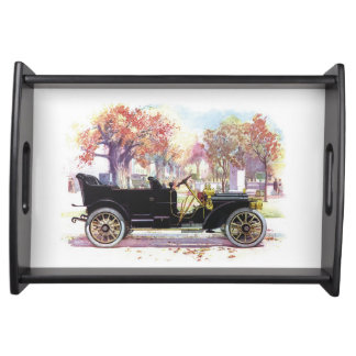 Vintage car serving tray