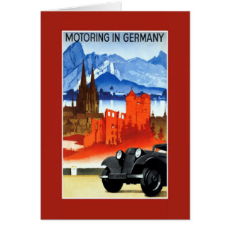 Vintage car travel Germany advertising Greeting Card