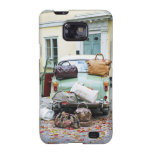 Vintage car with lots of luggage samsung galaxy s2 covers