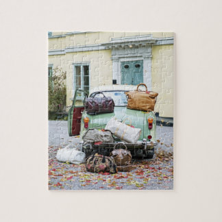 Vintage car with lots of luggage jigsaw puzzle