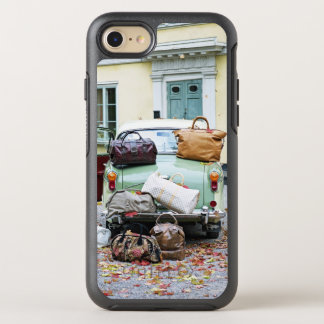 Vintage car with lots of luggage OtterBox symmetry iPhone 7 case