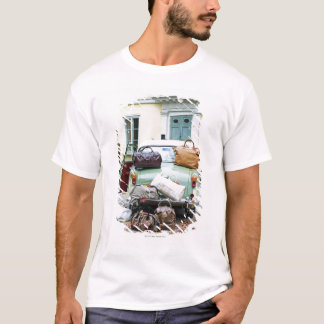 Vintage car with lots of luggage T-Shirt