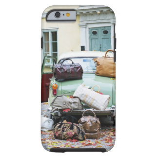 Vintage car with lots of luggage tough iPhone 6 case