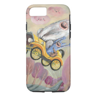 Vintage Car with Monsters iPhone 8/7 Case