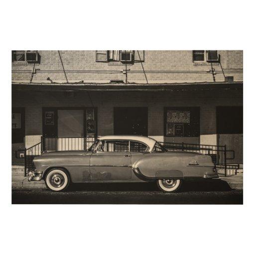 Vintage Car Wood Canvases