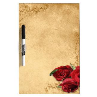 Vintage Caramel Brown & Rose Dry Erase Board