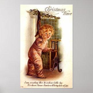 Vintage Card for A Boy Print