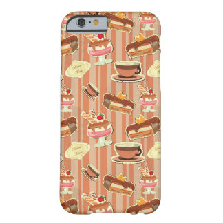 Vintage Card With A Strawberry Dessert Barely There iPhone 6 Case