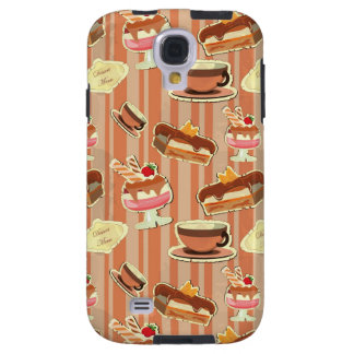 Vintage Card With A Strawberry Dessert Galaxy S4 Case