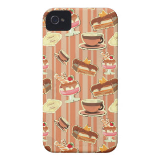 Vintage Card With A Strawberry Dessert iPhone 4 Cases