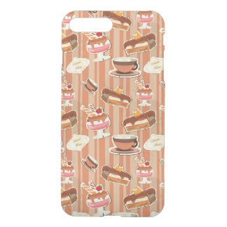 Vintage Card With A Strawberry Dessert iPhone 8 Plus/7 Plus Case