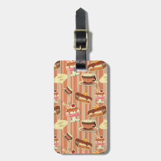 Vintage Card With A Strawberry Dessert Luggage Tag
