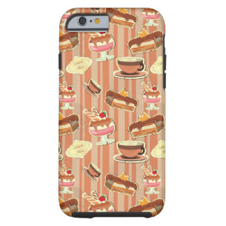 Vintage Card With A Strawberry Dessert Tough iPhone 6 Case