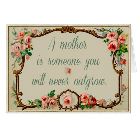 Vintage Card with Mother Sentiment