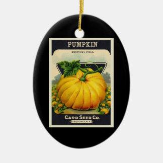 Vintage Card's Pumpkin Seed Package Christmas Ornament