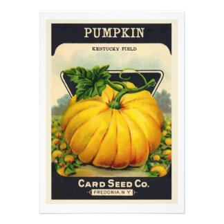 Vintage Card's Pumpkin Seed Package Announcement