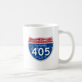 VINTAGE Carmageddon Worn Look Basic White Mug