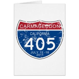 VINTAGE Carmageddon Worn Look Greeting Card