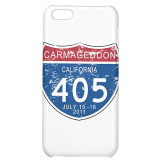 VINTAGE Carmageddon Worn Look Cover For iPhone 5C