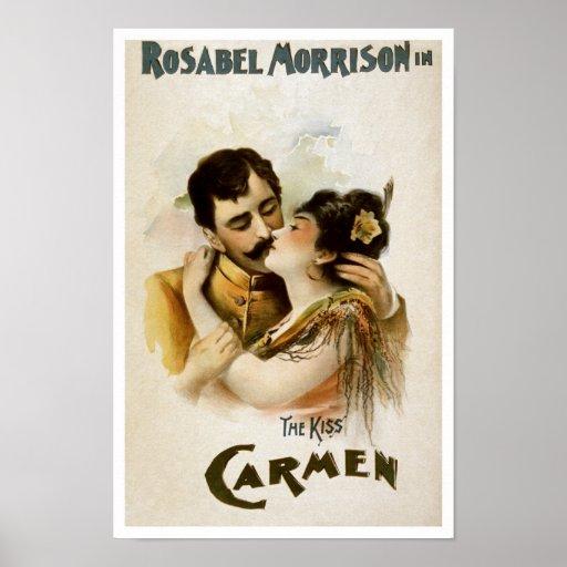Vintage Carmen Opera Poster Print
