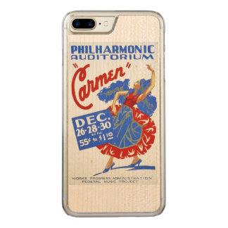 "Vintage ""Carmen"" Performing Arts WPA Poster Carved iPhone 8 Plus/7 Plus Case"