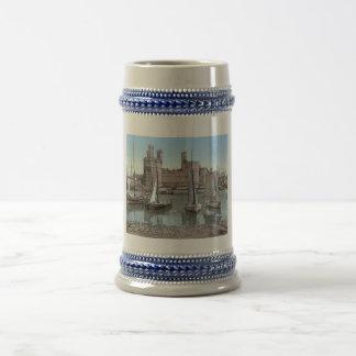 Vintage Carnarvon Castle, Wales 1890's Coffee Mugs