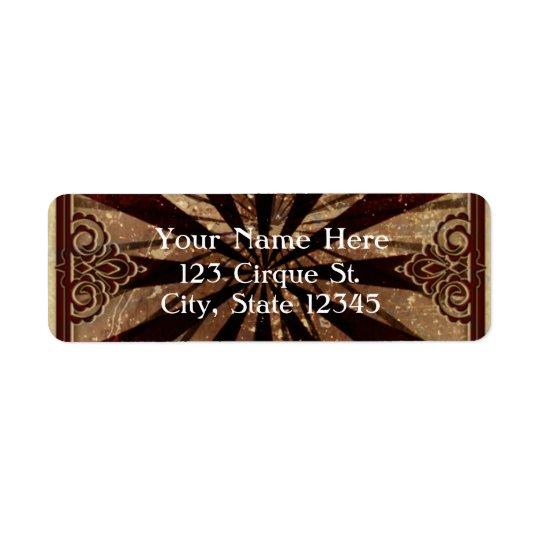 Vintage Carnival Elegant Party Address Label