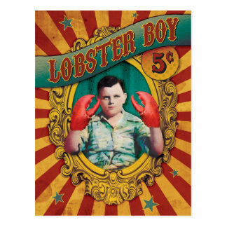 Vintage Carnival Freak Show Lobster Boy Postcard
