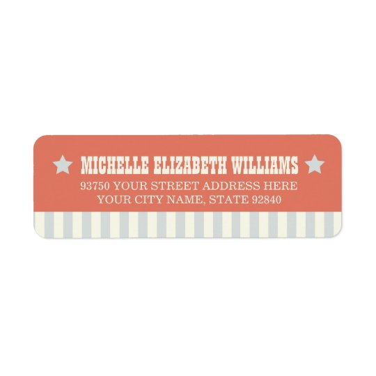 Vintage Carnival Return Address Labels