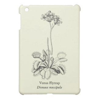 Vintage Carnivorous Venus Flytrap with Flowers Case For The iPad Mini