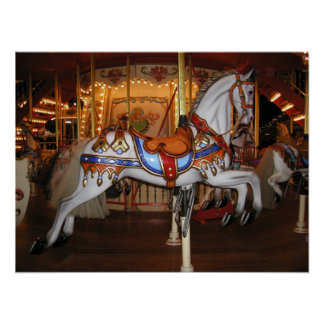 Vintage Carousel Horse 001 01 Poster