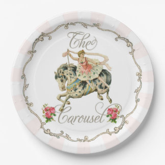 Vintage Carousel Paper plate 9 Inch Paper Plate