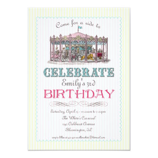 Vintage Carousel Party Invitation